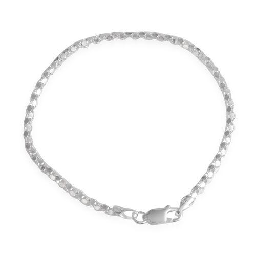JCK Vegas Collection Sterling Silver Bracelet (Size 7.5), Silver Wt 3.30 Gms.