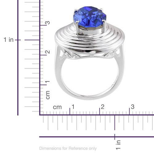 Swarovski Sapphire Crystal (5.25 Ct) Sterling Silver Ring  5.250  Ct.