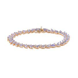 AA Tanzanite (Mrq) Bracelet (Size 7.5) in 14K Gold Overlay Sterling Silver 9.000 Ct.