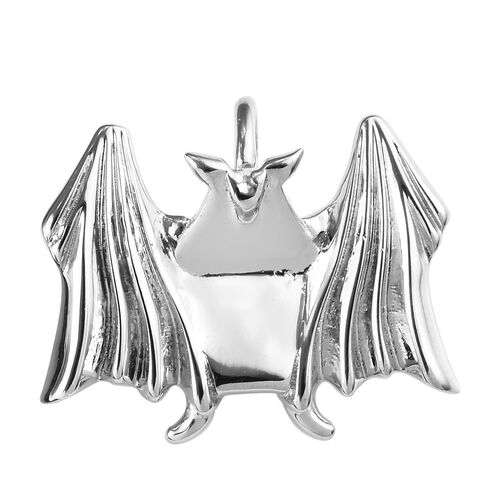 Origami Bat Silver Pendant in Platinum Overlay, Silver wt 3.34 Gms.