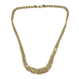 Vicenza Collection 9K Yellow Gold Byzantine Necklace (Size 20), Gold Wt 15.40 Gms.