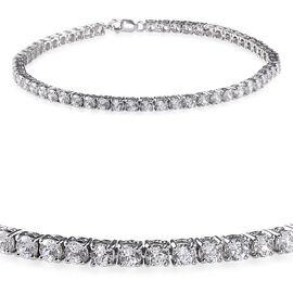 9K W Gold (Rnd) Bracelet (Size 8) Made with 120 FACETS HERITAGE CUT SWAROVSKI ZIRCONIA 6.160 Ct.
