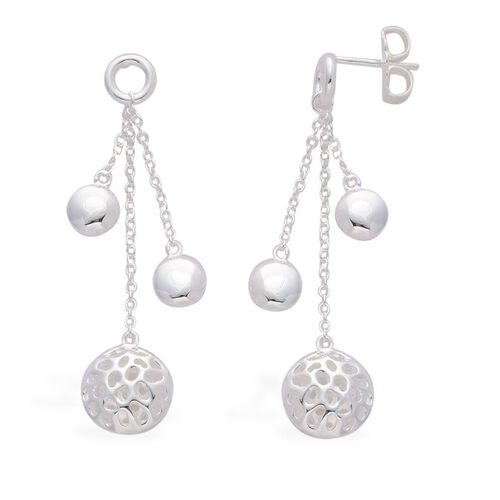 RACHEL GALLEY Rhodium Plated Sterling Silver Memento Disc Earrings (with Push Back)