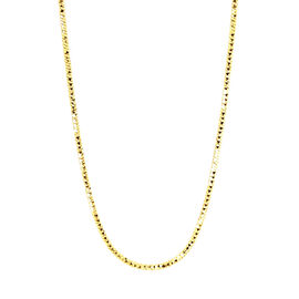 Vicenza Collection 14K Gold Plated Silver Venetian Diamond Cut Chain