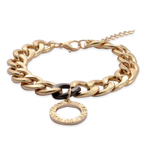 Circle Of Love Charm Bracelet (Size 7.5) in Gold Tone