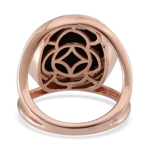 Goldenite (Rnd) Solitaire Ring in Rose Gold Overlay Sterling Silver 6.250 Ct.