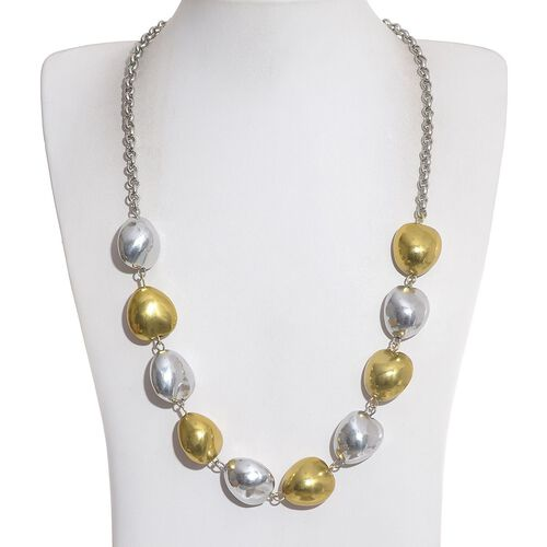 Jewels of India Gold and Silver Plated Necklace With Extender