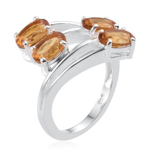 Citrine (Ovl) Ring in Sterling Silver 3.000 Ct.