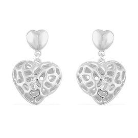 RACHEL GALLEY Sterling Silver Earring Amore Heart Lattice Earrings (with Push Back), Silver wt 5.23 Gms.