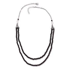 Brazilian Smoky Quartz Necklace (Size 20) in Silver Tone 52.680 Ct.