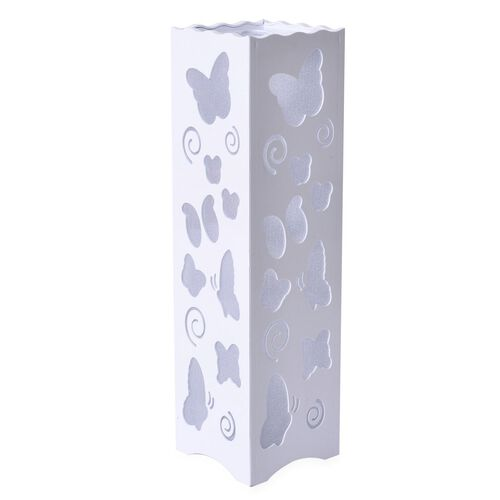 Home Decor - Butterfly Pattern White Colour LED Lamp (Size 33X9 Cm)
