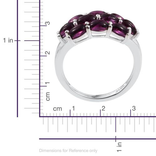 Rhodolite Garnet (Ovl) Ring in Sterling Silver 2.500 Ct.