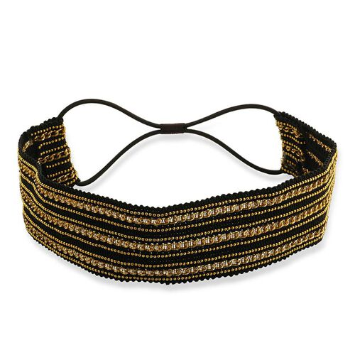 Black and Gold Stretchable Headband
