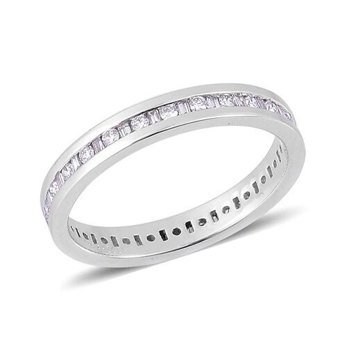 RHAPSODY 950 Platinum IGI Certified Diamond (Rnd) (VVS/E-F) Full Eternity Band Ring 0.500 Ct.