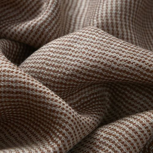 100% Cashmere Wool Chocolate and Beige Colour Scarf (Size 200x70 Cm)