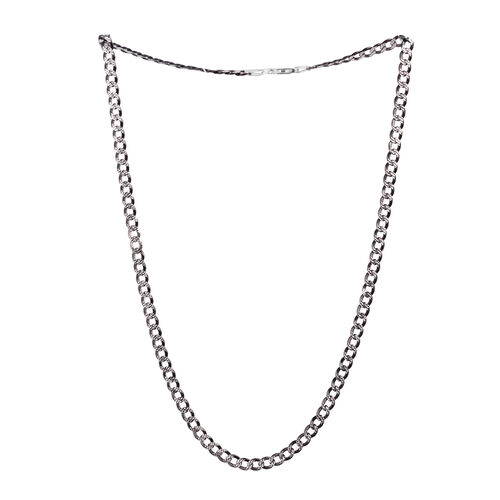 Close Out Deal Sterling Silver Curb Necklace (Size 22), Silver wt 14.90 Gms.