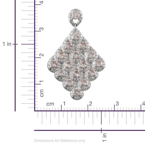 Marropino Morganite (Rnd) Pendant in Platinum Overlay Sterling Silver 1.500 Ct.