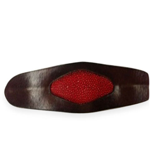 Brown and Red Stingray Leather Bangle (Size 7)