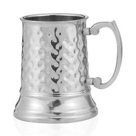 Home Decor Silver Colour Hammered Tankard Mug