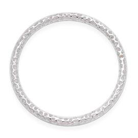 RACHEL GALLEY Sterling Silver Allegro Bangle (Size 7.75 / Medium), Silver wt 20.22 Gms.