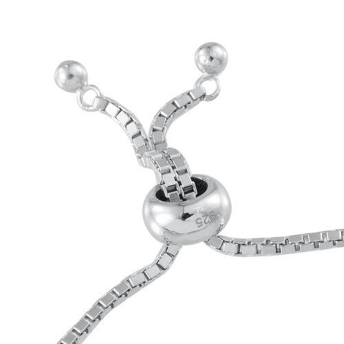 Bohemian Moldavite (Rnd) Bracelet (Size 7.5) in Platinum Overlay Sterling Silver 4.500 Ct.