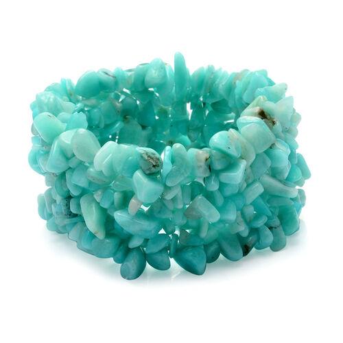 Amazonite Stretchable Bracelet 350.00 Ct.