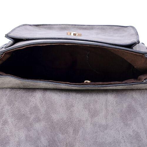 Fringes Dark Grey Crossbody Bag (Size 19x15.5x10 Cm)