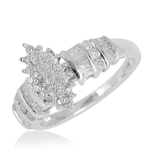 9K W Gold SGL Certified Diamond (Rnd) (I3/ G-H) Ring 0.500 Ct.