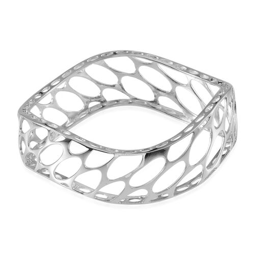 ION Plated Platinum Bond Bangle (Size 7.5)