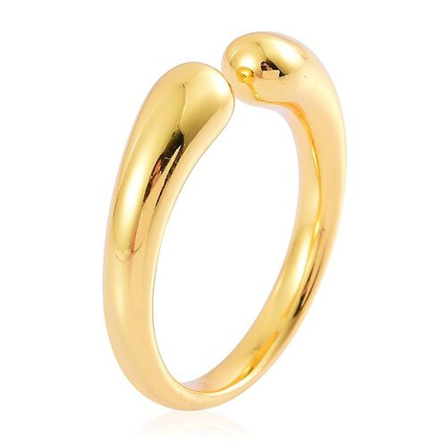 LucyQ Double Drip Ring in Yellow Gold Overlay Sterling Silver 5.24 Gms.