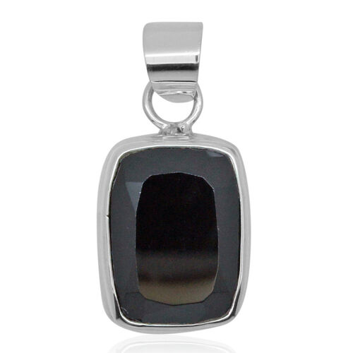 Royal Bali Collection Boi Ploi Black Spinel (Cush) Pendant in Sterling Silver 12.510 Ct.
