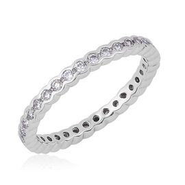 RHAPSODY 950 Platinum 0.50 Carat Diamond Full Eternity Band Ring IGI Certified VS / F.