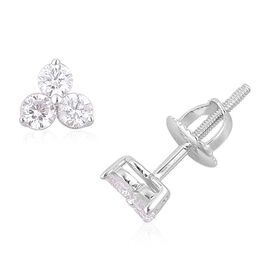 Rhapsody Diamond (0.50 Ct) 950 Platinum Earring  0.500  Ct.