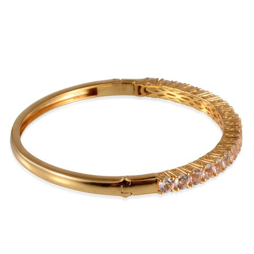 Marropino Morganite (Rnd) Bangle (Size 7.5) in 14K Gold Overlay Sterling Silver 4.500 Ct.