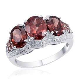 Designer Collection Umba River Zircon (Ovl 3.75 Ct) Ring in Platinum Overlay Sterling Silver 7.970 Ct.