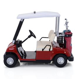 STRADA Red Colour Decorative Mini Golf Cart Digital Table Clock