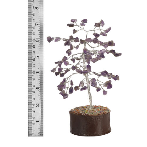 Home Decor - Amethyst Leaves GemStone Tree (Stone wt Approx 50 to 55 Ct.) (Size 18x6 Cm)