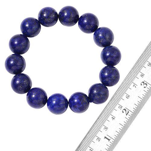 AAA Lapis Lazuli Ball Stretchable Bracelet (Size 7.5) 406.000 Ct.