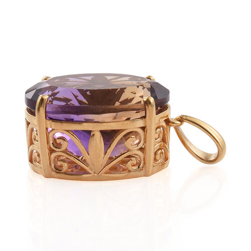 Limited Edition - Anahi Ametrine (Ovl) Pendant in 14K Gold Overlay Sterling Silver 11.600 Ct.