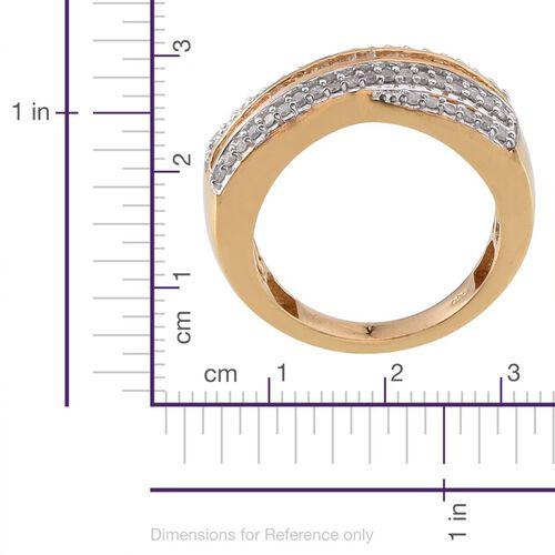 Diamond (Bgt) Ring in 14K Gold Overlay Sterling Silver 0.500 Ct.