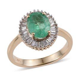 14K Y Gold AAA Boyaca Colombian Emerald (Ovl 1.65 Ct), Diamond Ring 2.000 Ct.