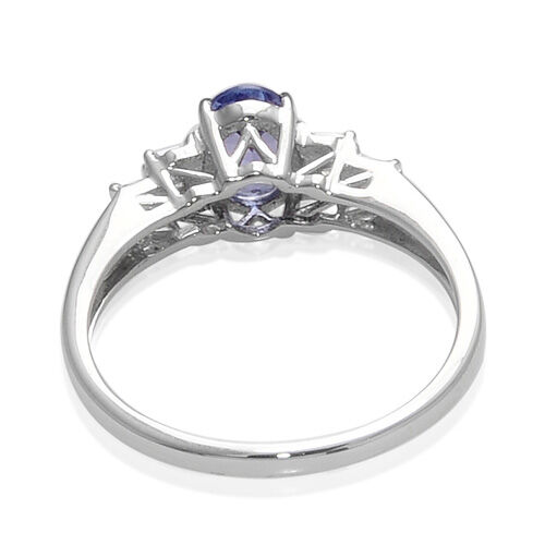 9K W Gold Tanzanite (Ovl 0.75 Ct) Diamond Ring  0.850 Ct.