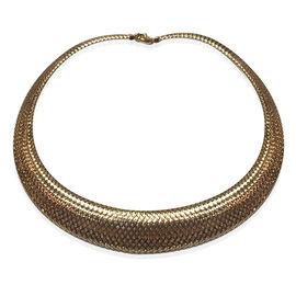 Limited Available- Designer Inspired 9K Y Gold Omega Necklace (Size 18), Gold wt 16.01 Gms.