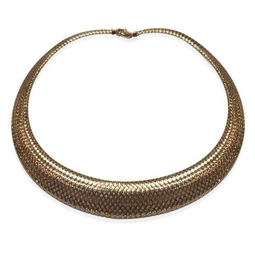 Limited Available- Designer Inspired 9K Y Gold Omega Necklace (Size 18), Gold wt 16.01 Gms.