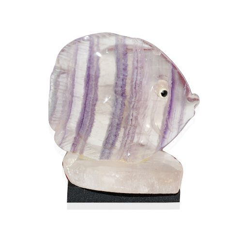 Home Style Tucson Treasures Hand Crafted Size Small Fluorite Fish on Base