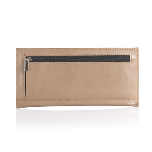 Genuine Leather RFID Blocker Coffee Colour Wallet  (Size 20x8 Cm) with Card Holder