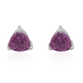 ILIANA 18K W Gold Pink Sapphire (Trl) Stud Earrings (with Screw Back) 1.000 Ct.