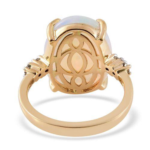 ILIANA 18K Y Gold AAAA Ethiopian Welo Opal (Ovl 6.85 Ct), Diamond (SI/G-H) Ring 6.980 Ct.