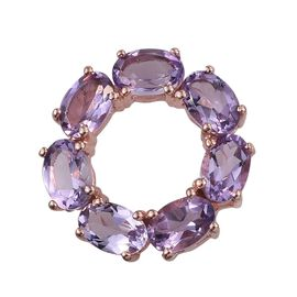 Rose De France Amethyst (Ovl) Circle of Life Pendant in Rose Gold Overlay Sterling Silver 3.000 Ct.