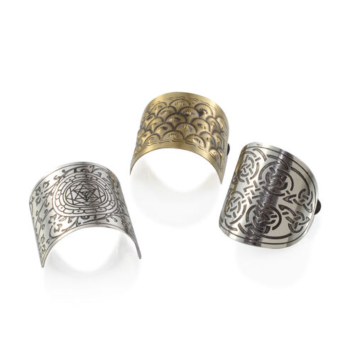Set of 3 - Silver and Gold Plated Hair Band